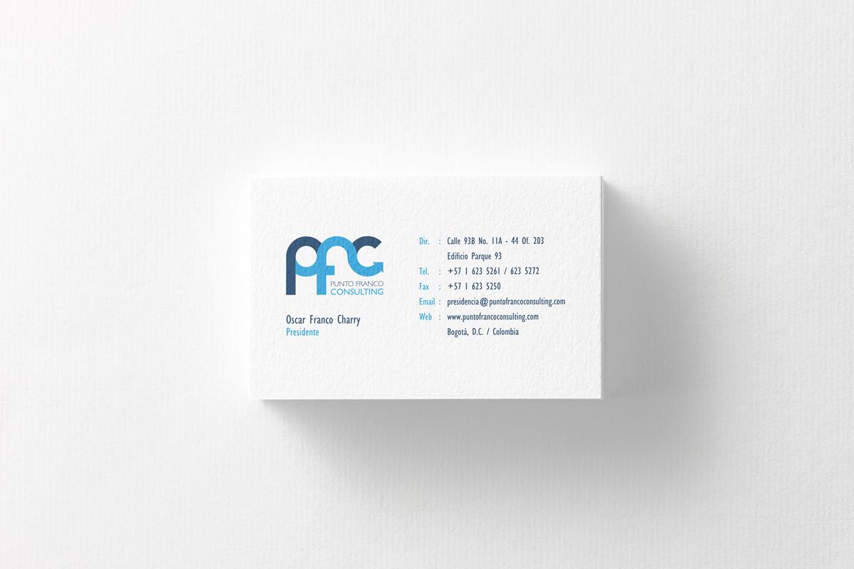 Diseño de Tarjeta Personal para la marca Punto Franco Consulting