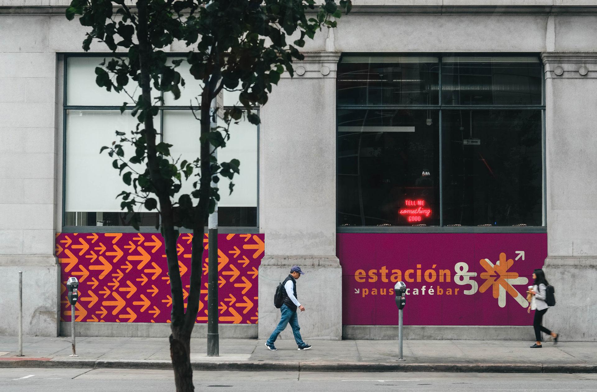 Logotipo Fachada Restaurante Cafe Estacion 85