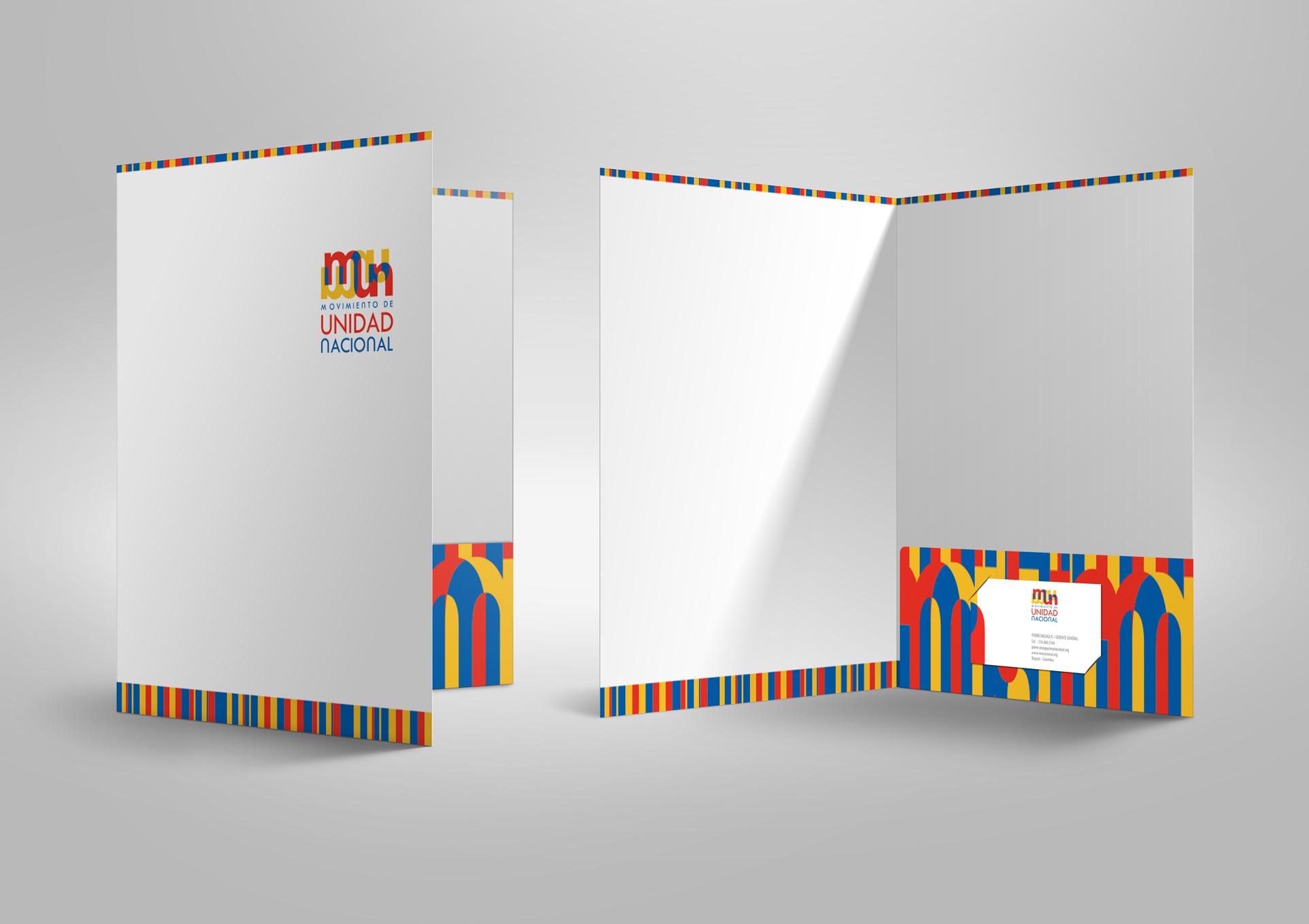 Diseño de Carpeta Movimiento de Unidad Nacional - MUN