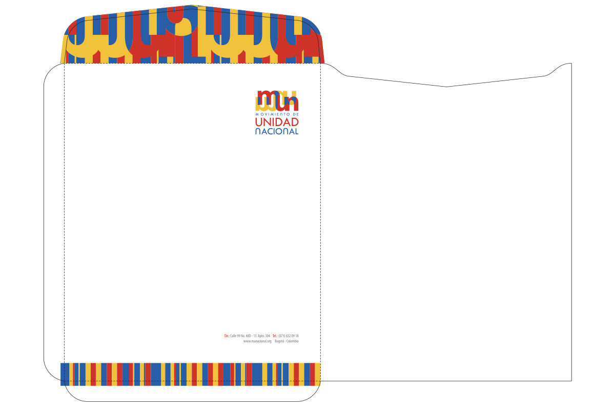 Diseño de Sobre Movimiento de Unidad Nacional - MUN