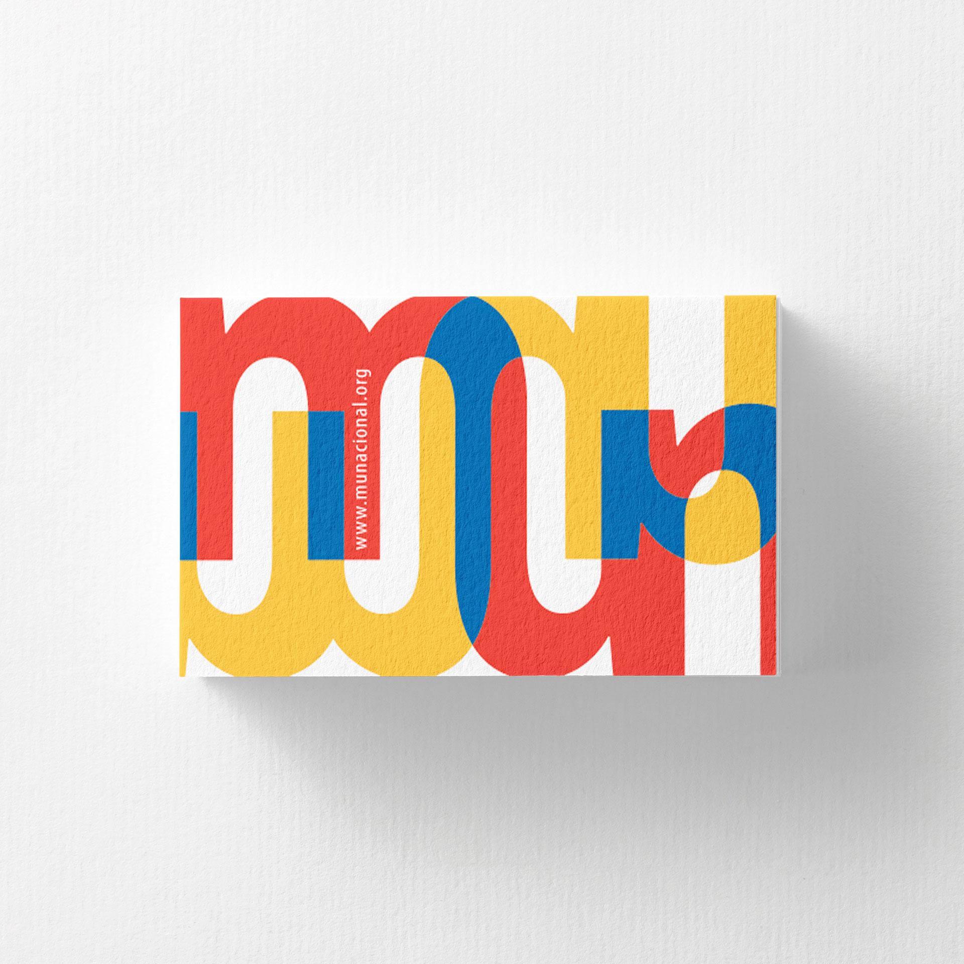 Diseño de Tarjeta Personal Movimiento de Unidad Nacional - MUN