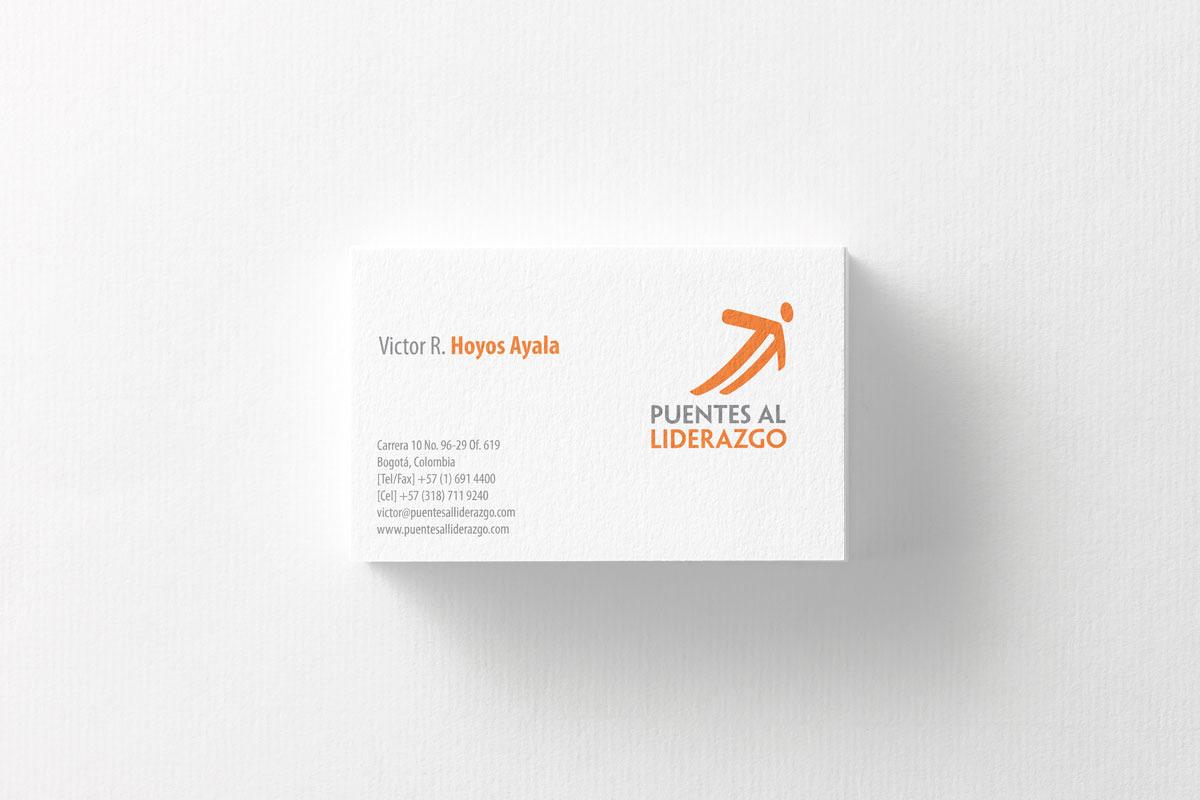 Diseño de Tarjeta Personal para empresa de coaching Puentes al Liderazgo