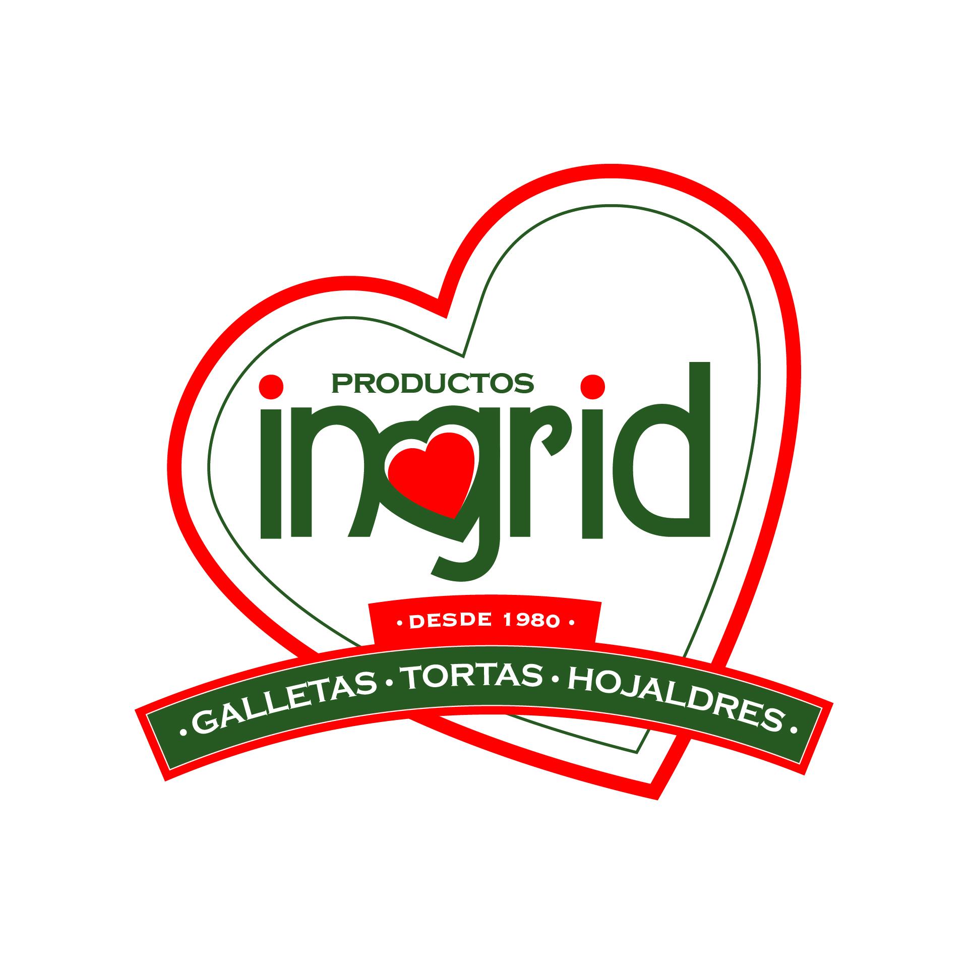 Logotipo para marca de productos de pasteleria y reposteria Productos Ingrid