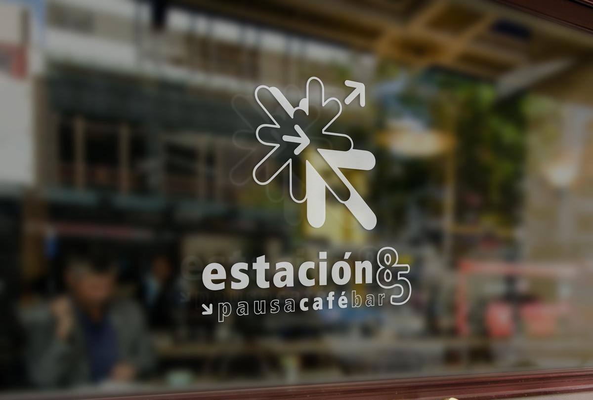 Logotipo Ventana Restaurante Cafe Estación 85