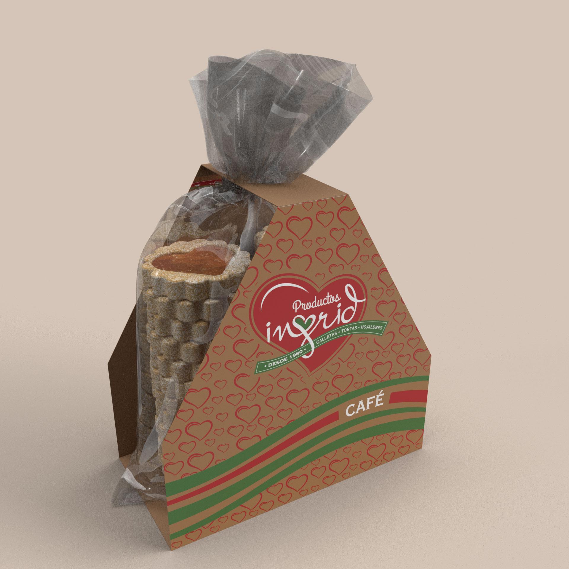 Bolsa galletas y plegadizo en carton Productos Ingrid Opcion 1