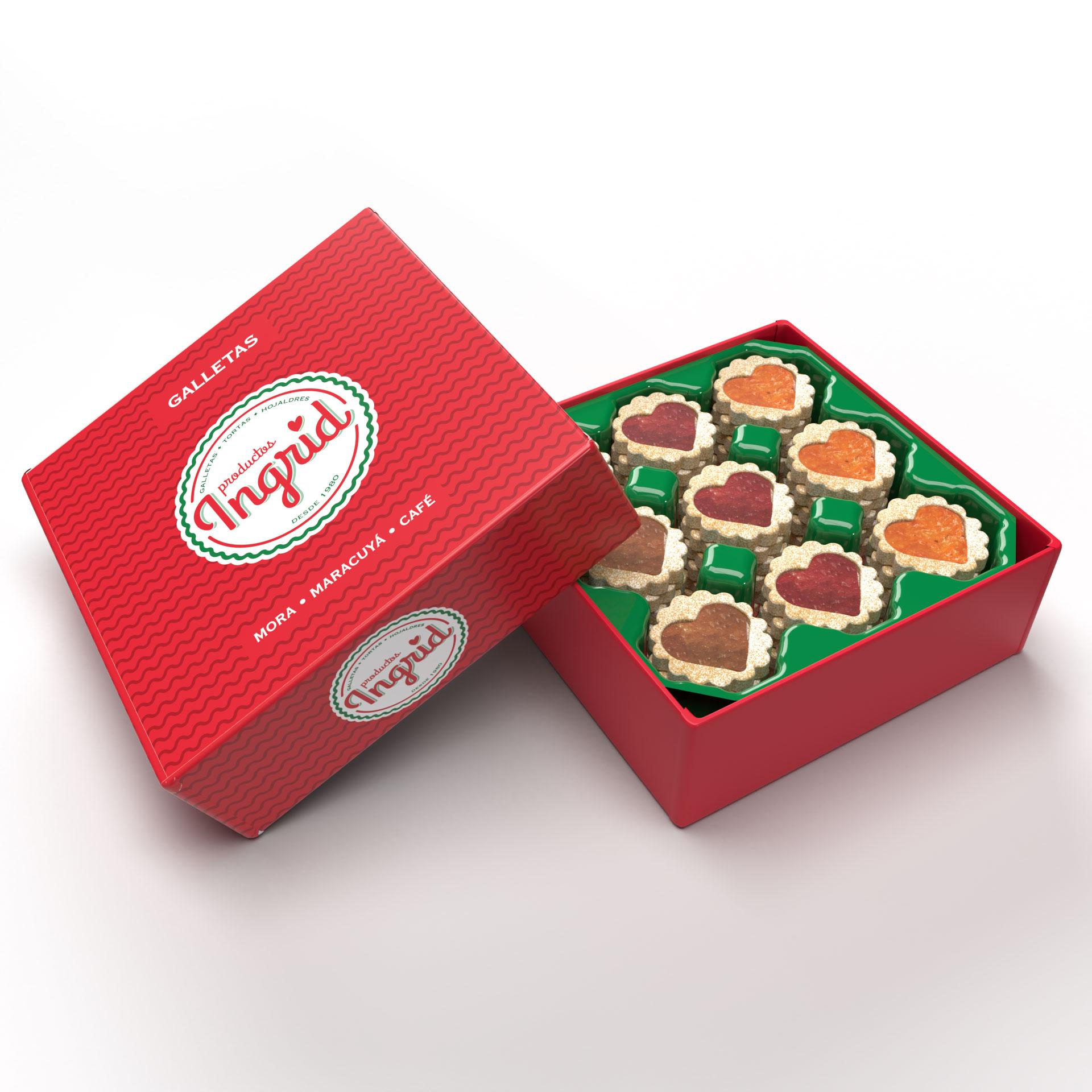 Caja de Galletas 3 sabores Productos Ingrid