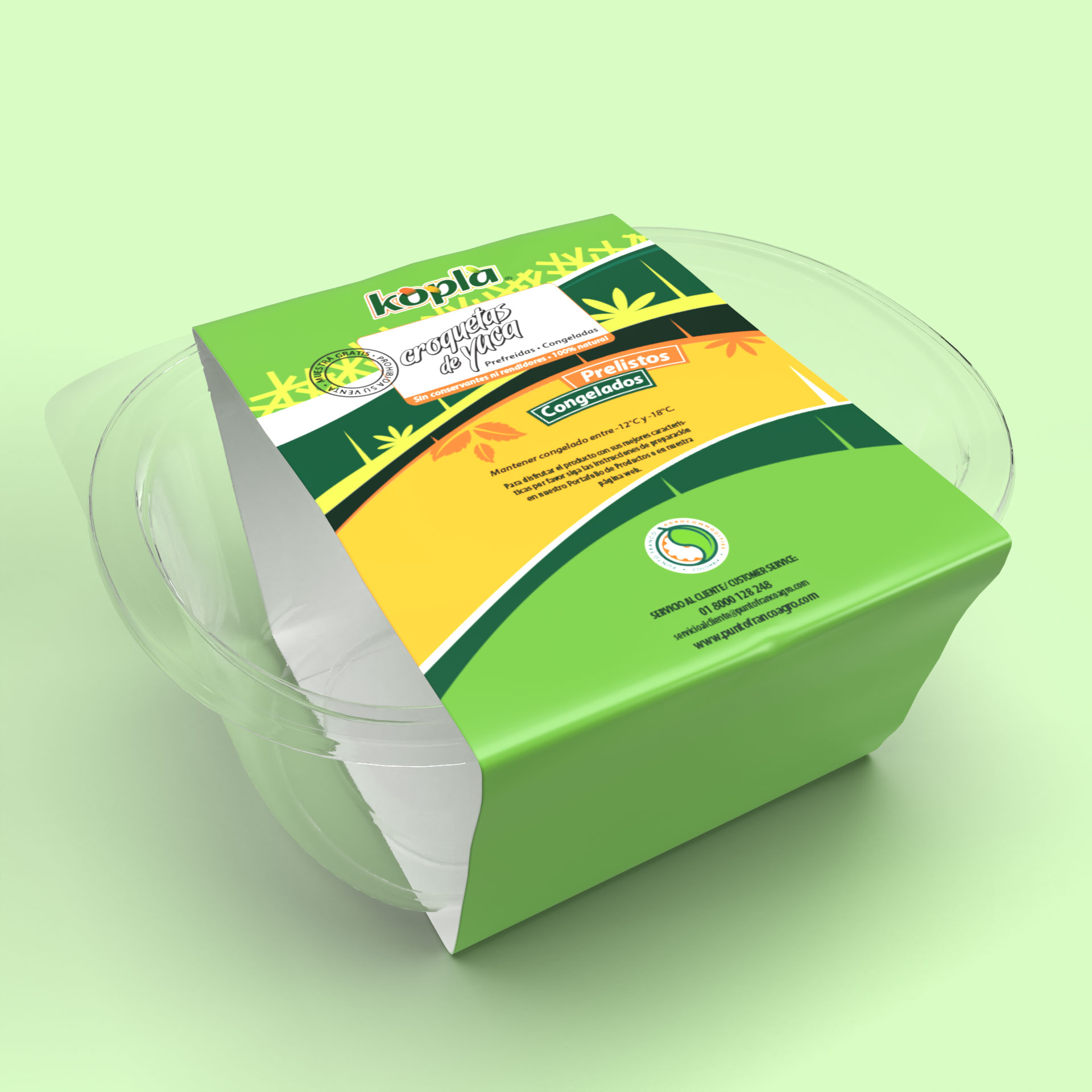 Diseño Empaque Degustación Productos Kopla