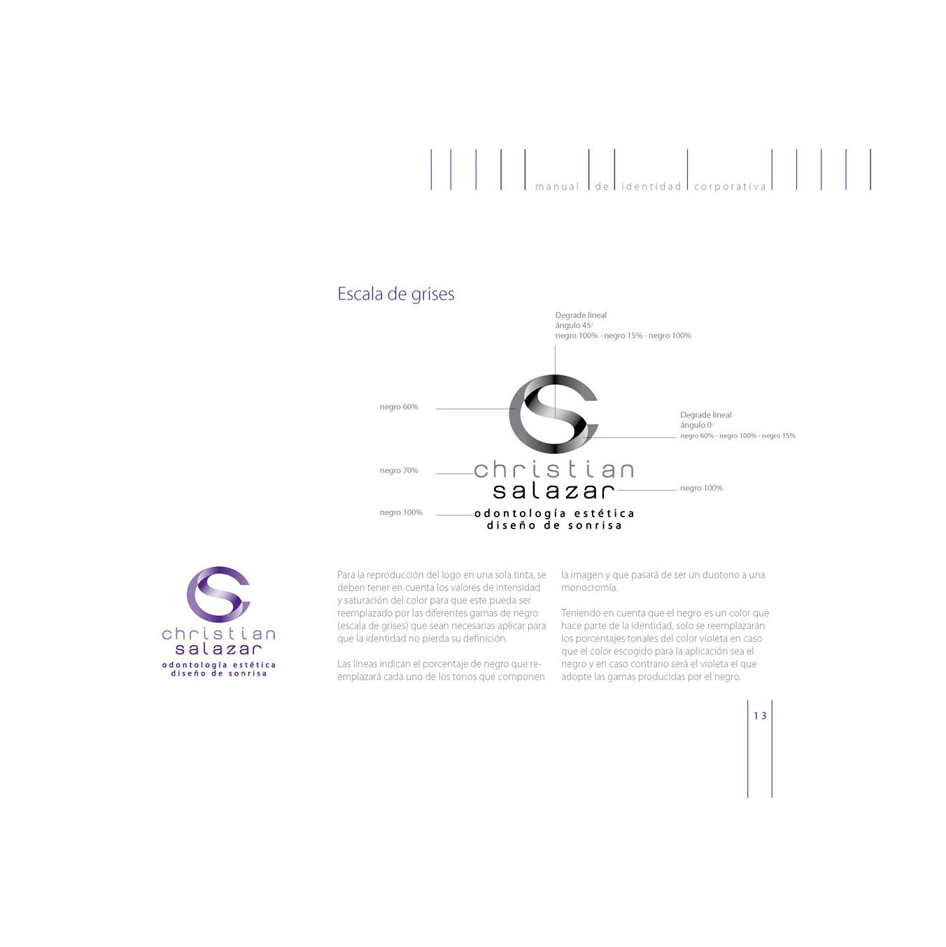 Diseño de Identidad Visual y Logotipo para la marca Christian Salazar Odontología Estética