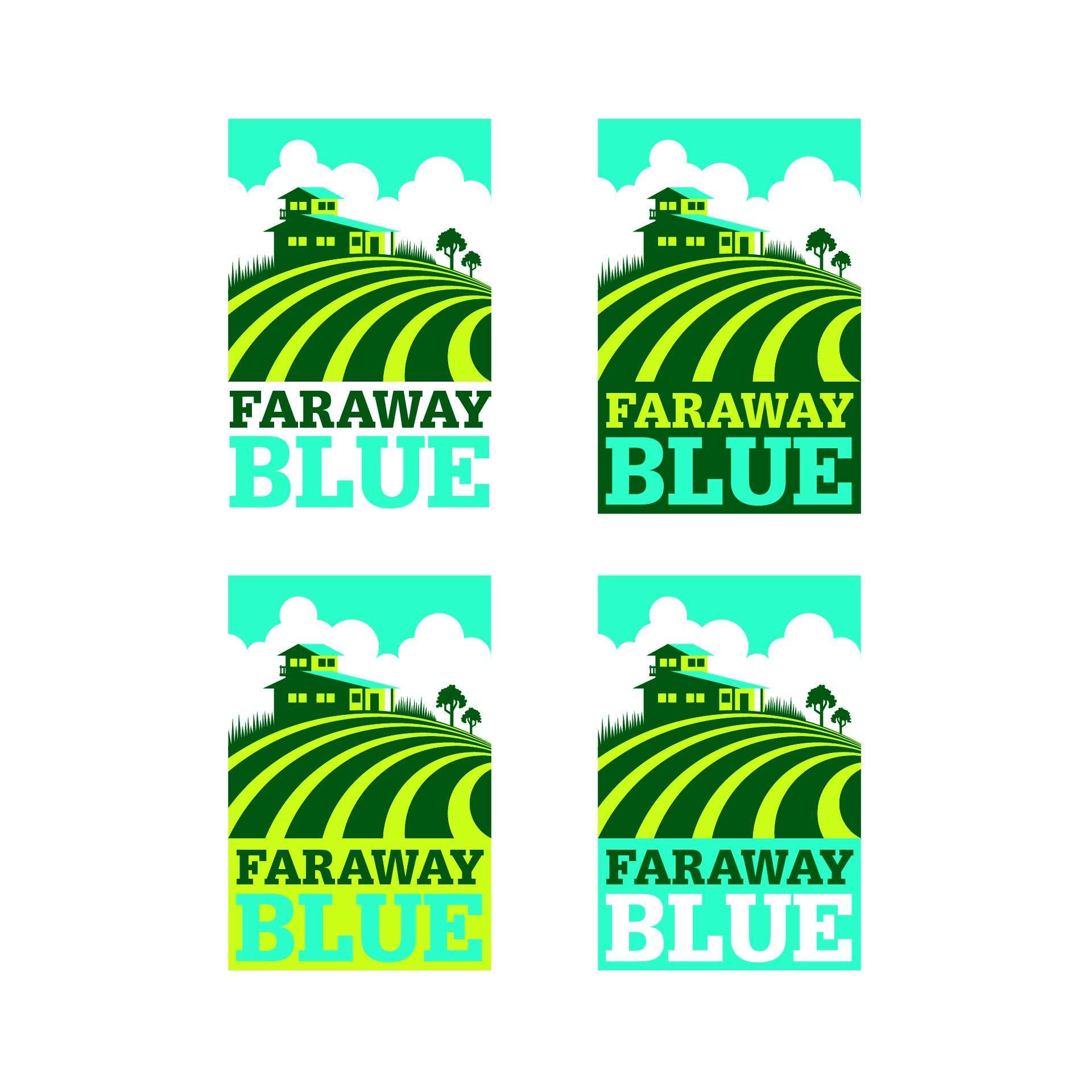Diseño de Identidad Visual y Logotipo para la marca Faraway Blue