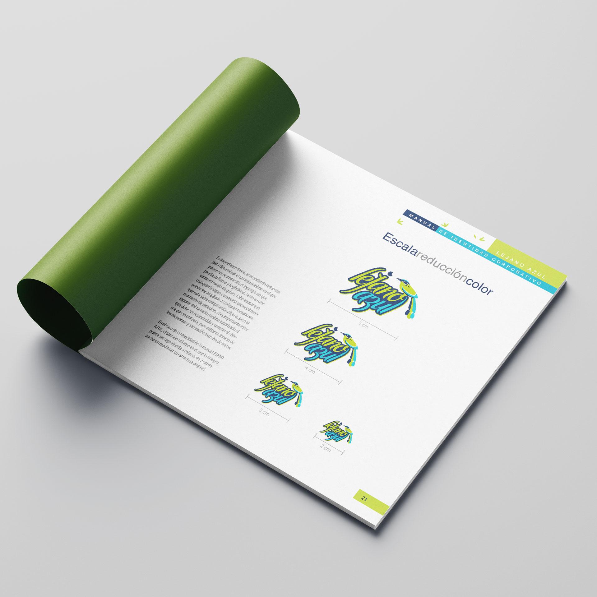 Diseño de Identidad Visual y Logotipo para la marca Lejano Azul
