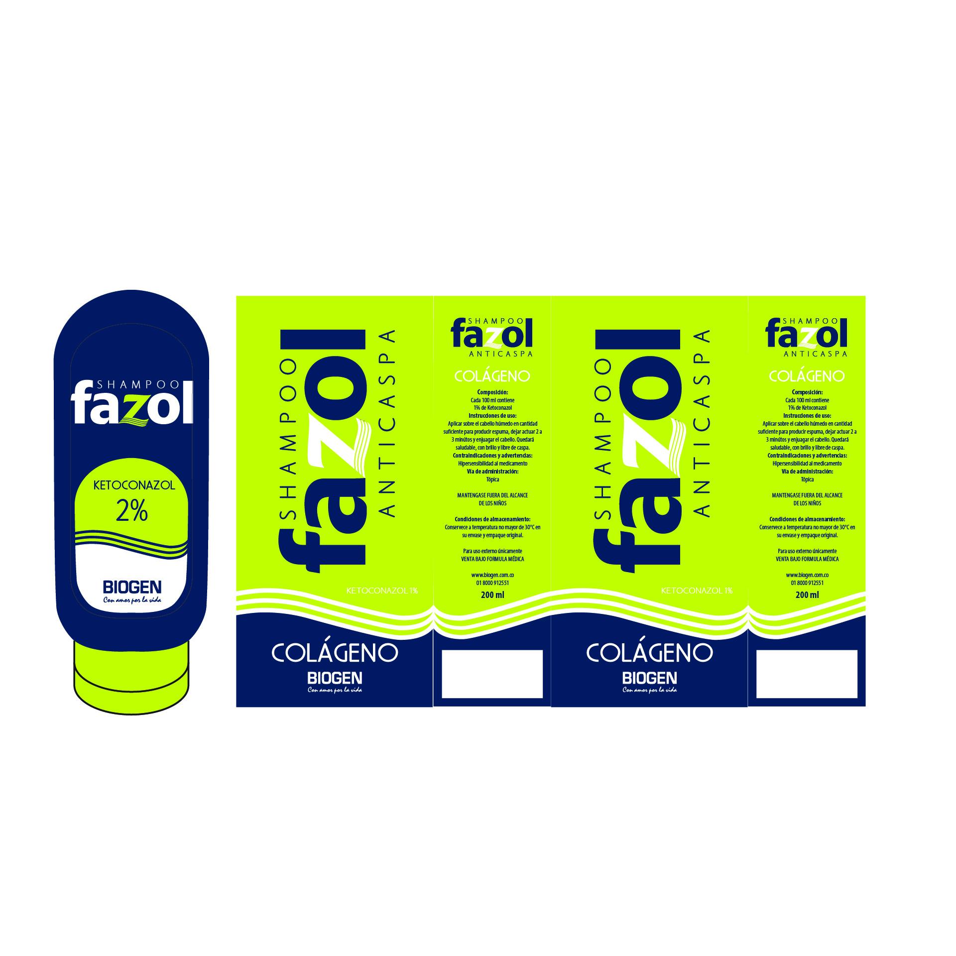 Diseño de Identidad Visual y Logotipo para la marca de Shampoo Anticaspa Fazol