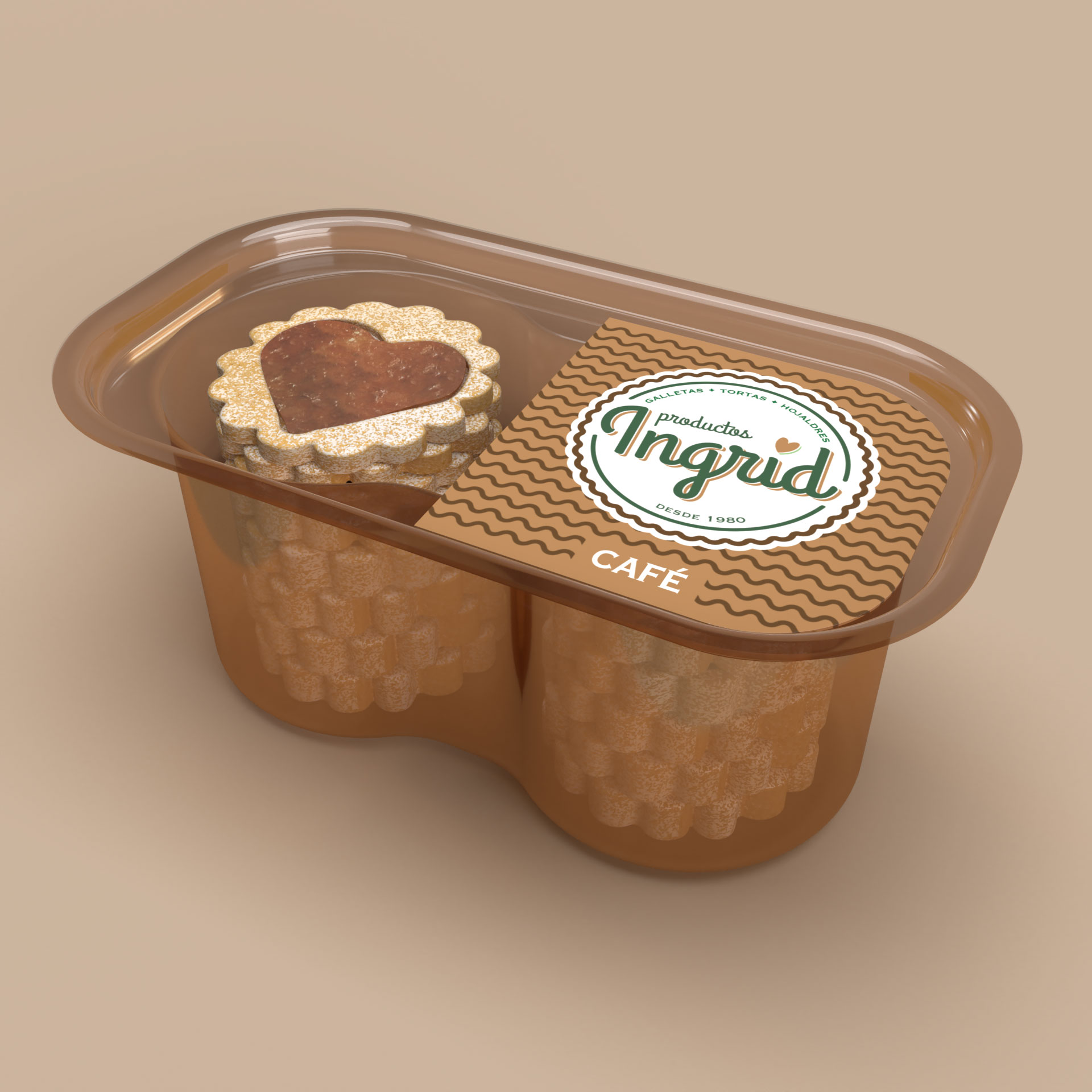 Diseño de Empaque Termoformado de Galletas Productos Ingrid