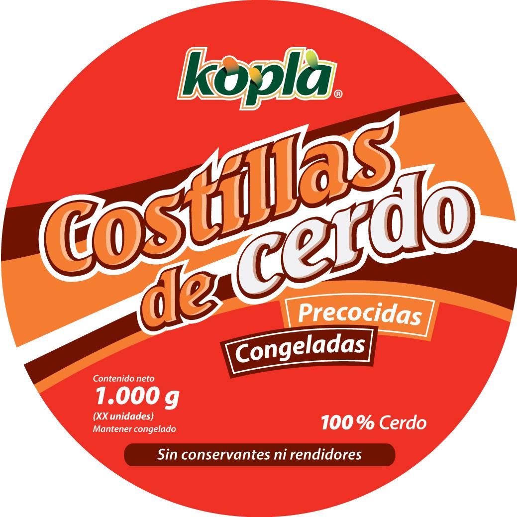 Diseño Envase Costillas de Cerdo marca Kopla
