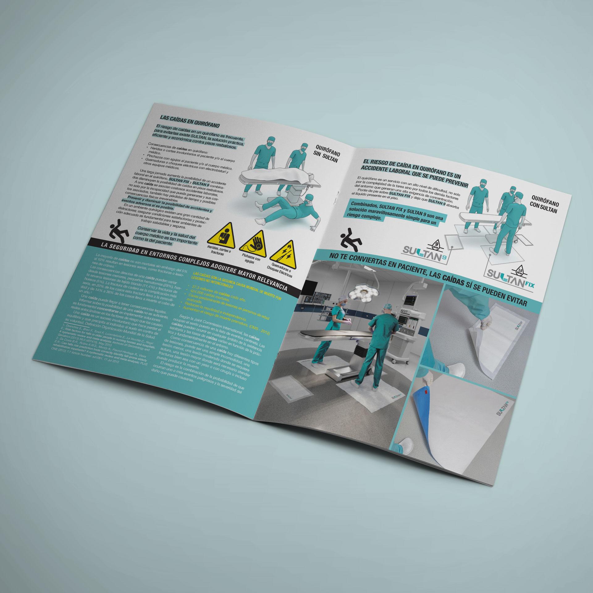 Catálogo y Brochure de tapete absorbente para quirófanos Sultan