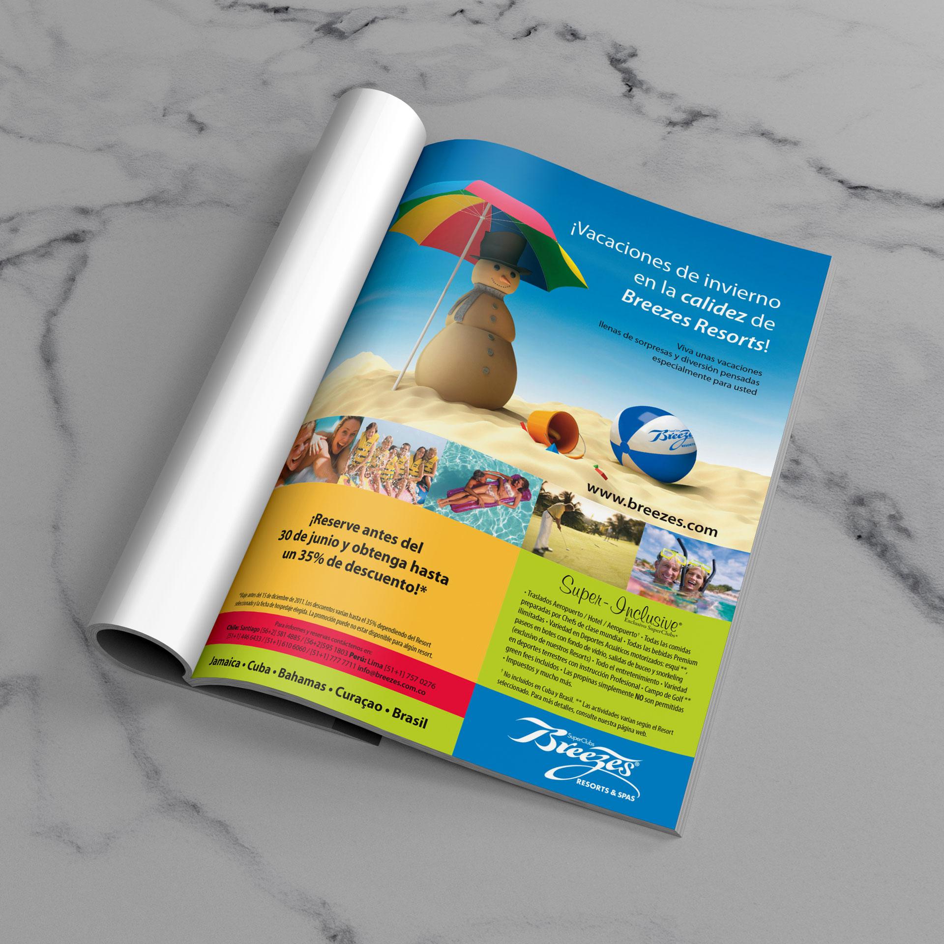 Campaña Breezes Resorts en Jamaica