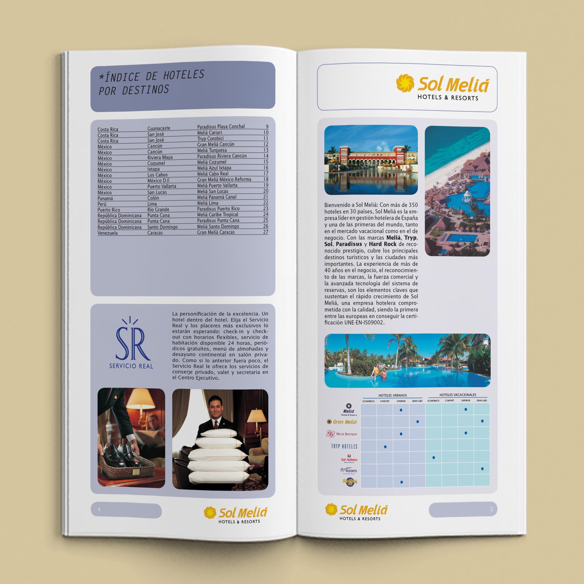 Catálogo de Bolsillo Hoteles & Resorts Sol Meliá - Cielos Abiertos