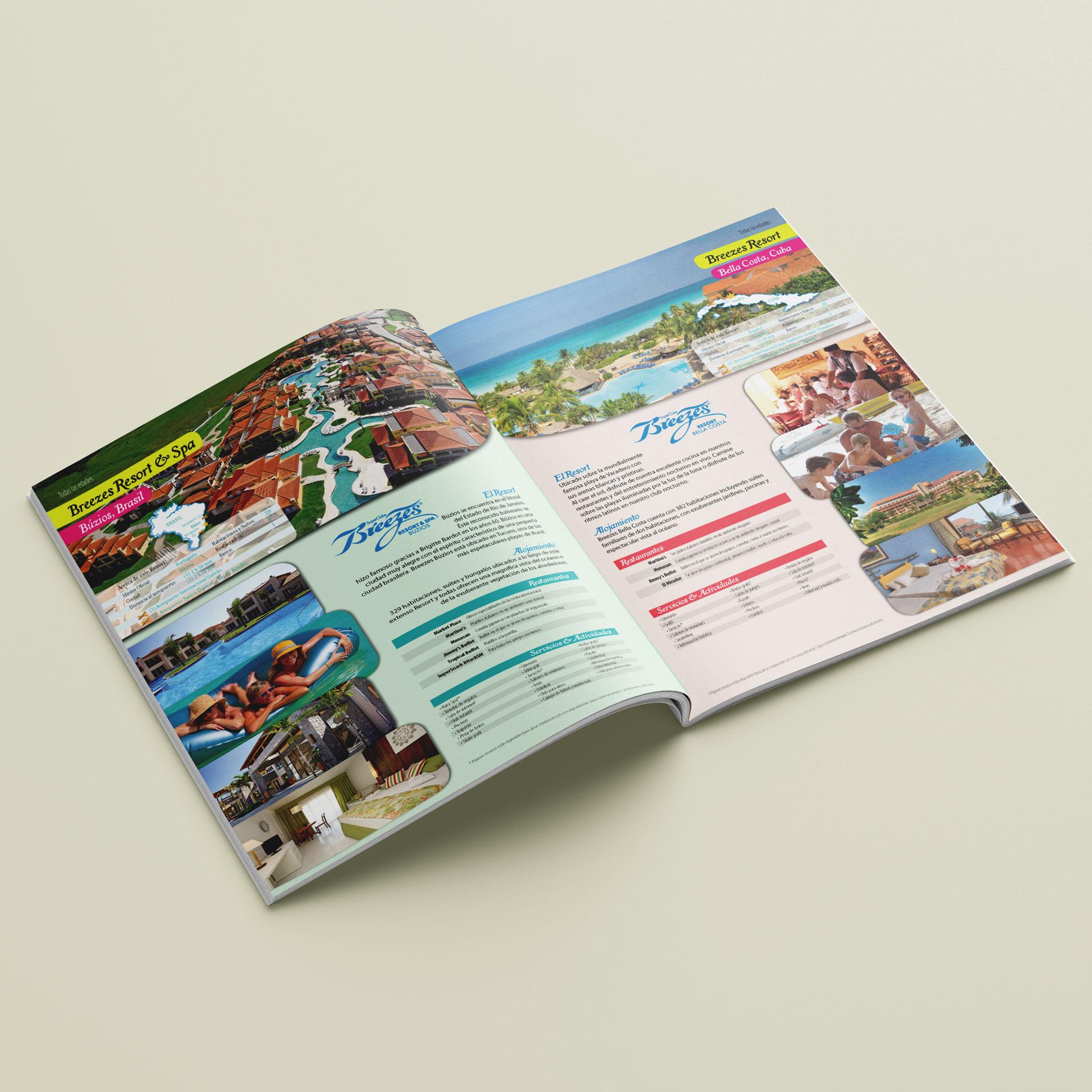 Diseño Portafolio de Hoteles y Resorts Breezes