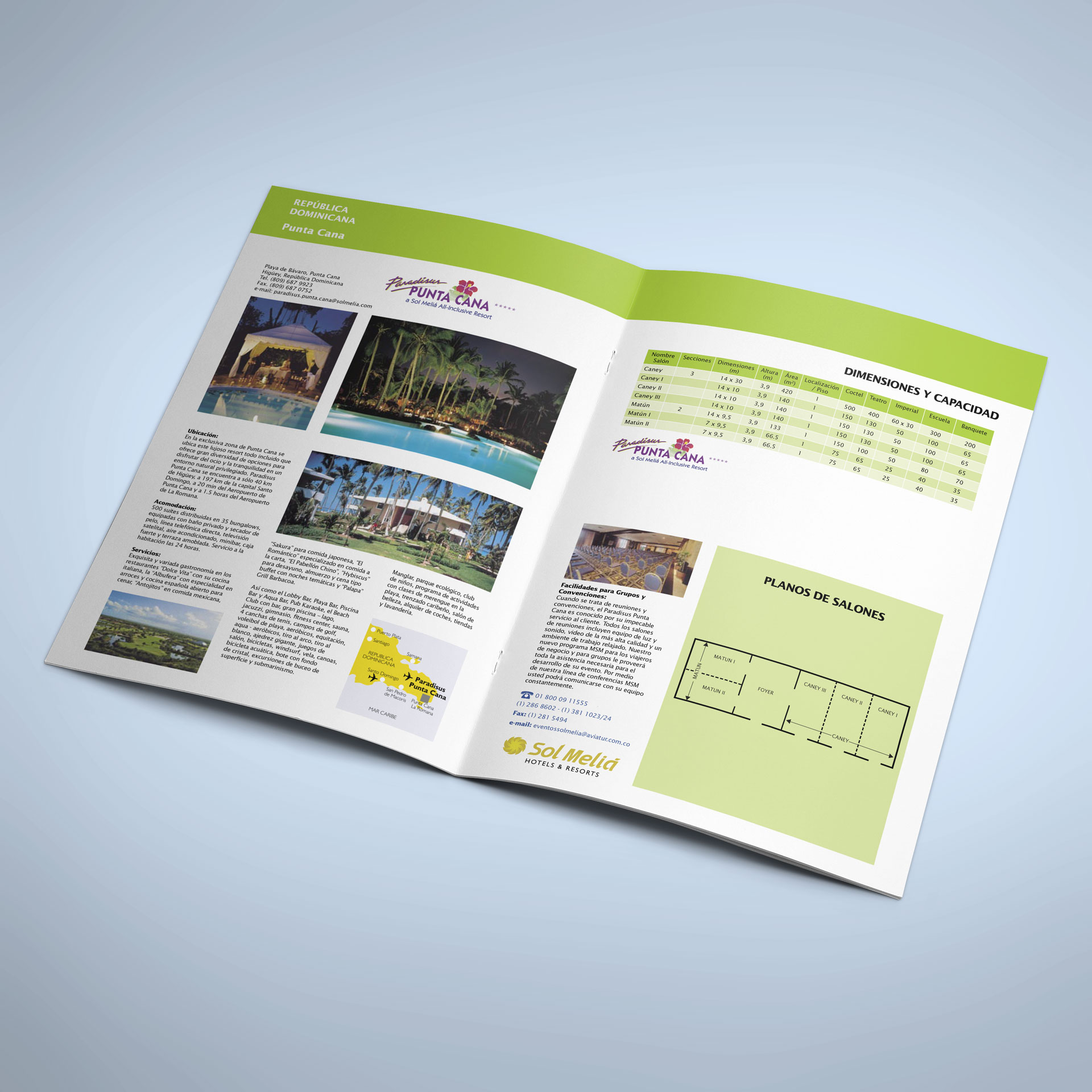 Diseño de Portafolio de Hoteles Sol Meliá - Aviatur